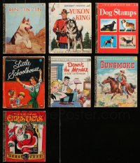 2s010 LOT OF 7 HARDCOVER MOSTLY LITTLE GOLDEN BOOKS 1950s-1970s Rin Tin Tin, Dennis the Menace!