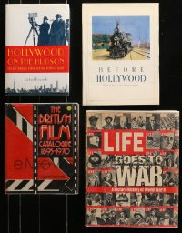 2s014 LOT OF 4 HARDCOVER MOVIE BOOKS 1970s-2000s Life Goes to War, British Film Catalogue!
