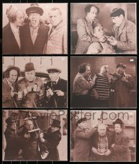2s027 LOT OF 6 THREE STOOGES 11X14 REPRO PHOTOS 1980s great images of Moe, Larry & Curly!