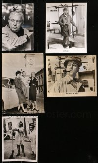 2s025 LOT OF 5 JACQUES TATI NEWS PHOTOS 1950s-1970s the legendary French actor/director!