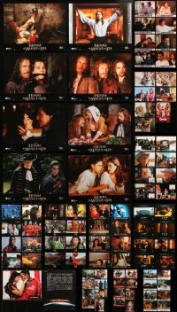 2s028 LOT OF 11 FRENCH LOBBY CARD SETS 1990s-2010s contains 95 scenes from a variety of movies!