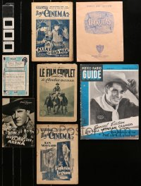 2s029 LOT OF 10 MISCELLANEOUS WESTERN ITEMS 1920s-1990s Ken Maynard, Red Ryder & more!