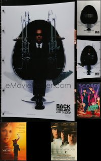 2s003 LOT OF 1 LENTICULAR AND 4 MOUNTED 27X41 ONE-SHEETS 1990s-2000s cool movie images!