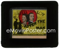 2t213 AFTER THE THIN MAN glass slide 1936 William Powell, Myrna Loy & Asta the dog too, cool art!