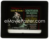 2t220 ANOTHER SCANDAL glass slide 1924 romantic close up of Lois Wilson & Holmes Herbert, rare!