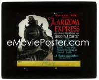 2t223 ARIZONA EXPRESS glass slide 1924 great image of two men fighting on front of train, rare!