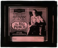 2t229 BIG PUNCH glass slide 1921 great close up of cowboy Buck Jones, directed by John Ford