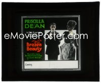 2t236 BRAZEN BEAUTY glass slide 1918 Priscilla Dean, early Tod Browning melodrama, ultra rare!