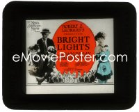 2t237 BRIGHT LIGHTS glass slide 1925 country boy Charles Ray loves Pauline Starke in New York!