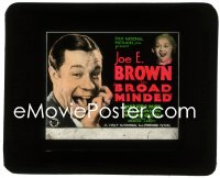 2t238 BROADMINDED glass slide 1931 great image of big mouth Joe E. Brown & Marjorie White!