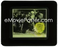 2t242 CHARLIE CHAN AT THE CIRCUS style B glass slide 1936 Asian detective Warner Oland, Keye Luke!