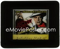 2t251 COWBOY STAR glass slide 1936 Charles Starrett & Peter B. Kyne, ace of action writers!
