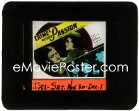 2t252 CRIME WITHOUT PASSION glass slide 1934 close up of Claude Rains arrested & with pretty Margo!