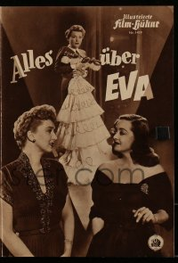 2t047 ALL ABOUT EVE German program 1952 Bette Davis, Anne Baxter classic, but no Marilyn Monroe!