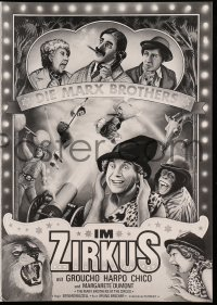 2t050 AT THE CIRCUS German program R1970s Groucho, Chico & Harpo, Marx Brothers, different art!