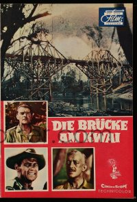 2t061 BRIDGE ON THE RIVER KWAI German program 1958 Holden, Guinness, Sears, David Lean, different!