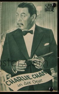 2t069 CHARLIE CHAN AT THE OPERA German program 1936 Asian detective Warner Oland, different images!