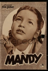 2t073 CRASH OF SILENCE German program 1953 different images of deaf mute little girl, Mandy!