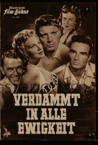 2t093 FROM HERE TO ETERNITY Film-Buhne German program 1954 Lancaster, Kerr, Sinatra, Reed, Clift