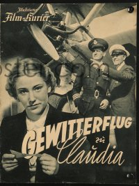 2t098 GEWITTERFLUG ZU CLAUDIA German program 1937 Jutta Freybe, Willy Fritsch, airplane images!
