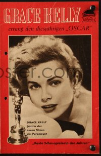 2t102 GRACE KELLY German program 1955 winner of the Best Actress Academy Award for Country Girl!