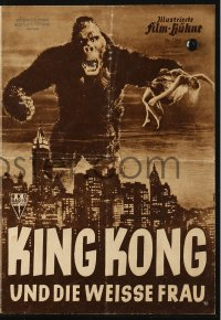 2t121 KING KONG German program R1952 classic image of ape holding Fay Wray over New York Skyline!