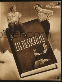 2t126 LIEBESSCHULE German program 1940 Luise Ullrich & Viktor Staal skiing, Love School!