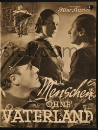 2t135 MENSCHEN OHNE VATERLAND German program 1937 Maisch's forbidden People Without a Country!