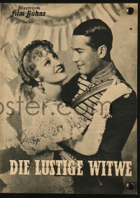 2t136 MERRY WIDOW German program 1950 Maurice Chevalier, Jeanette MacDonald, Lubitsch, different!