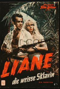 2t140 NATURE GIRL & THE SLAVER German program 1957 Marion Michael returns as Liane the Jungle Girl!
