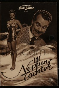 2t141 NEPTUNE'S DAUGHTER German program 1951 different images of Red Skelton & Esther Williams!