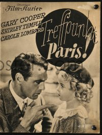 2t142 NOW & FOREVER German program 1937 Gary Cooper, Carole Lombard, Shirley Temple, different!