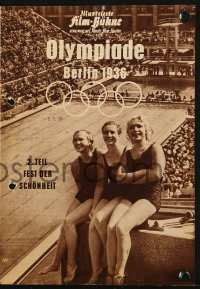 2t144 OLYMPIA PART TWO: FESTIVAL OF BEAUTY German program R1958 Leni Riefenstahl Olympic documentary