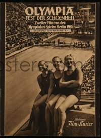 2t143 OLYMPIA PART TWO: FESTIVAL OF BEAUTY German program 1938 Leni Riefenstahl Olympic documentary
