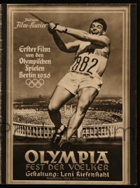 2t145 OLYMPIAD German program 1938 Leni Riefenstahl's Berlin Olympics documentary Part I, nudity!