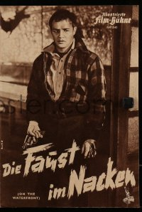 2t147 ON THE WATERFRONT German program 1954 Elia Kazan classic, Marlon Brando, different!