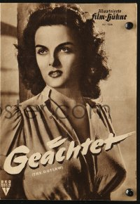 2t148 OUTLAW German program 1951 different images of sexy Jane Russell & Jack Buetel, Howard Hughes