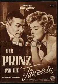 2t152 PRINCE & THE SHOWGIRL German program 1957 Laurence Olivier & sexy Marilyn Monroe, different!