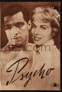 2t153 PSYCHO German program 1960 Janet Leigh, Anthony Perkins, Alfred Hitchcock, different!