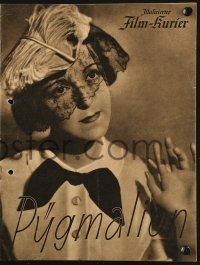 2t154 PYGMALION German program 1935 Erich Engel's German version of George Bernard Shaw's play!