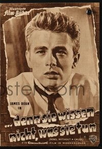 2t158 REBEL WITHOUT A CAUSE German program 1956 Nicholas Ray, James Dean, Natalie Wood, different!