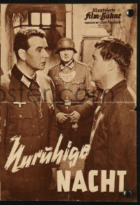 2t160 RESTLESS NIGHT German program 1958 Bernhard Wicki, Ulla Jacobsson, WWII, Unruhige Nacht!