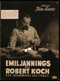 2t162 ROBERT KOCH, DER BEKAMPFER DES TODES German program 1939 Emil Jannings with nude corpse!