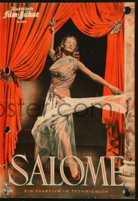 2t166 SALOME German program 1953 different images of sexy Biblical Rita Hayworth & Stewart Granger!