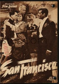 2t167 SAN FRANCISCO German program R1955 different images of Clark Gable & Jeanette MacDonald!