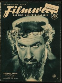 2t025 FILMWELT German magazine September 27, 1940 Ferdinand Marian in Jud Suss on the cover!