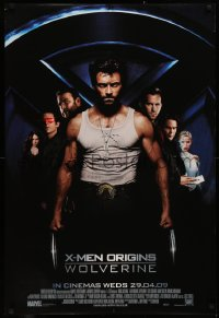 2y0247 X-MEN ORIGINS: WOLVERINE advance DS English 1sh 2009 Hugh Jackman, Marvel Comics super hero!