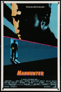 2y0814 MANHUNTER 1sh 1986 Hannibal Lector, Red Dragon, it's just you and me now sport!