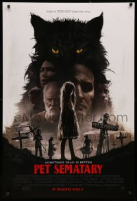 2y0854 PET SEMATARY advance DS 1sh 2019 Stephen King horror remake, sometimes dead is better, cast!