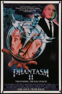 2y0857 PHANTASM II advance 1sh 1988 the terrifying killer ball is back, the ultimate evil!